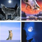 Lot Of 12 Wolves Fabric Panel Quilt Squares