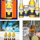 Lot Of 4 Corona Beer Fabric Panel Quilt Squares