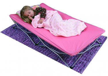 Regalo My Cot Portable Toddler Bed, Pink indoor outdoor sleep grandma folding
