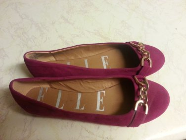 BEAUTIFUL ELLE  FUSHIA PINK BALLET FLATS SHOES SIZE 10 ALL OCCASION