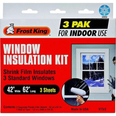 Window Insulation Kit standard indoor 3 pak frost king
