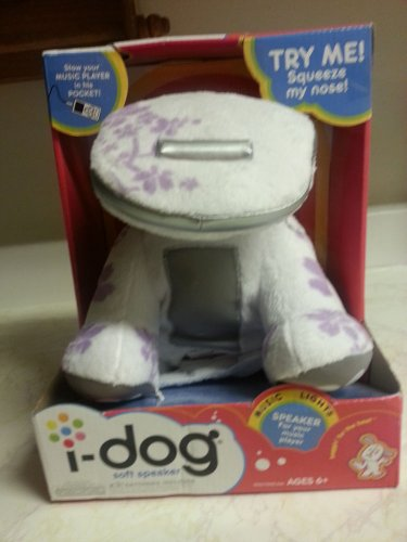 idog soft speaker music player huggable light  beat tunes out loud cuddly happy