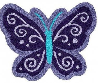 Butterfly Nursery Rug NoJo colorful girl's room  whimsical  charm