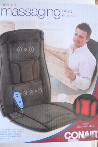 Conair Heated Massaging Heat Cushion body back  thighs pad relaxation chairs