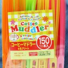 "Plastic Coffee Tea Muddler 4.3"" 150pcs Assorted Color"