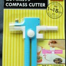 "Compass Circles Paper Cutter Blue Diameter 0.4""- 5.9""/ 1-15cm"