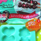 Chocolate PRETZ Sticks Flower Heart Mold Silicone Pastry Mould 2 Sticks #25