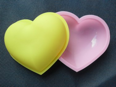 Silicone Heart Mold Cake Jelly Pudding Mould 2pcs Set