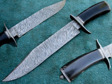 One Of a Kind Astonishing Custom Hand Made Marvelous Damascus Steel Hunting Knife (HK-283