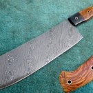 Astonishing Custom Hand Made Marvelous Damascus Steel Full Tang Kitchen/Chef's Cleaver (HK 280)