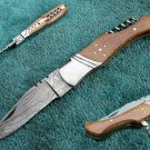 Astonishing Custom Hand Made Marvelous Damascus Steel Folding Knife (HK-276)