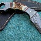 Astonishing Custom Hand Made Marvelous Damascus Steel Karambit Hunting Knife (HK-195)