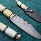Astonishing Custom Hand Made Marvelous Damascus Steel Hunting Knife (HK-27)
