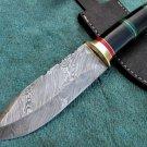 Astonishing Custom Hand Made Marvelous Damascus Steel Hunting Knife (HK-27-2)