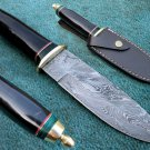 Astonishing Custom Hand Made Marvelous Damascus Steel Hunting Knife (HK-140-2)