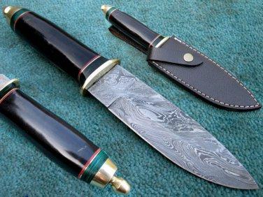 Astonishing Custom Hand Made Marvelous Damascus Steel Hunting Knife (HK-140-2)