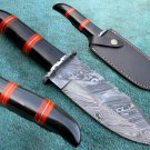 Astonishing Custom Hand Made Marvelous Damascus Steel Hunting Knife (HK-25-2)