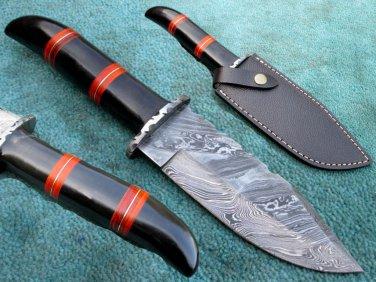 Astonishing Custom Hand Made Marvelous Damascus Steel Hunting Knife (HK-25-2)
