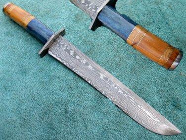 Astonishing Custom Hand Made Damascus Steel Hunting Bowie Knife (HK-264)