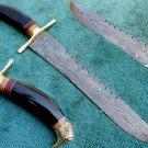 Astonishing Custom Hand Made Damascus Steel Hunting Bowie Knife (HK-265)