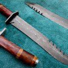 Astonishing Custom Hand Made Damascus Steel Hunting Bowie Knife (HK-267)
