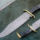 HANDMADE CUSTOM MANUFACTURED DAMASCUS STEEL HUNTING RAMBO BOWIE KNIFE ( HK-502)