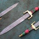 HANDMADE CUSTOM MANUFACTURED DAMASCUS STEEL HUNTING DAGGER KNIFE (HK-504)