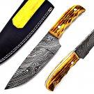 SUPERB CUSTOM HAND MADE DAMASCUS FULL TANG HUNTING KNIFE / SKINNER KNIFE