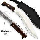 "Custom Hand Made Superb 1/4"" Thick D2 Tool Steel Gurkha Kukri Hunting Bowie Knife"