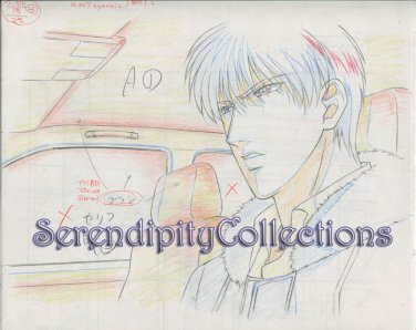 Mirage of Blaze Production Artwork (Takaya and Naoe in a car)