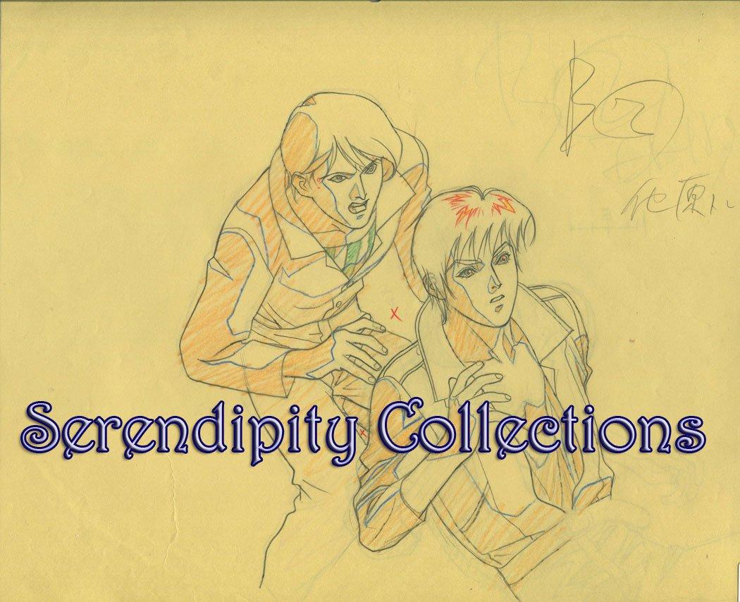 Ai no Kusabi Production Genga set (Riki and friend)