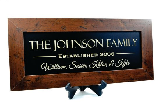 Custom Carved Family Sign....Rustic Version