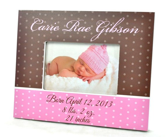 Personalized Baby Picture Frame...Hand Painted