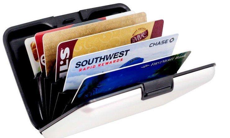 Aluminum Credit Card Case  Green