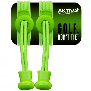 No Tie Shoe Laces for Golf Shoes -(red & green)