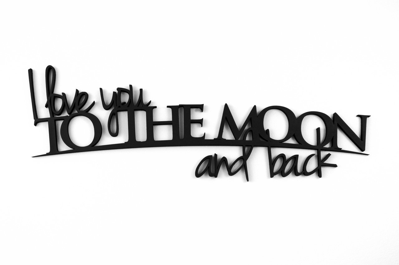 I Love You To The Moon And Back Word Art