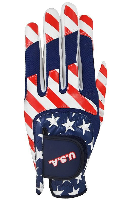 USA Multi Fit Golf Glove, Left Hand, One Size, Red/White/Blue..IN STOCK