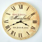 Personalized Rustic Wall Clock (13 inches)