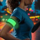 LED Slap Armband, Lights for Running (GREEN)