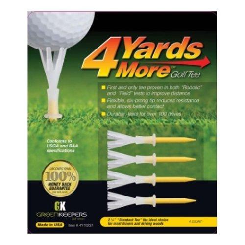 4 More Yards Golf Tees (4 tees)(2.75 inch)