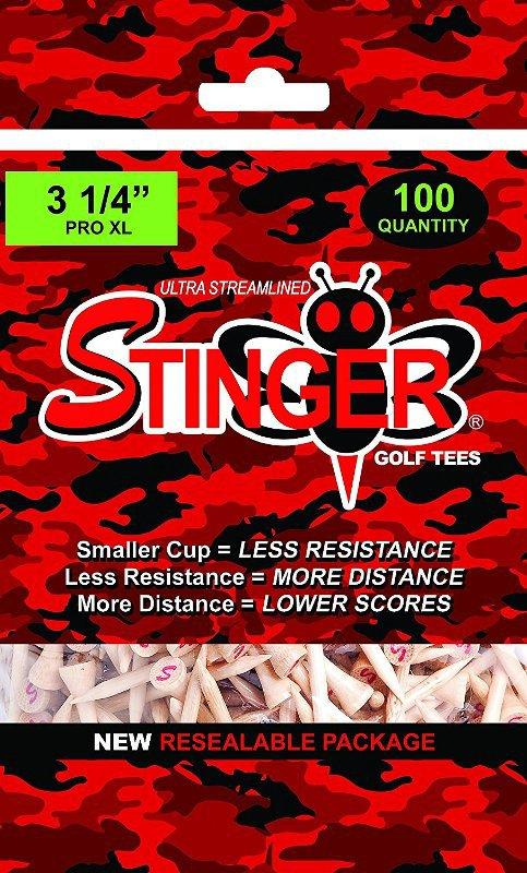 Stinger Tees- 3.25 INCH   Pro XL Golf Tees (100-125) Bag