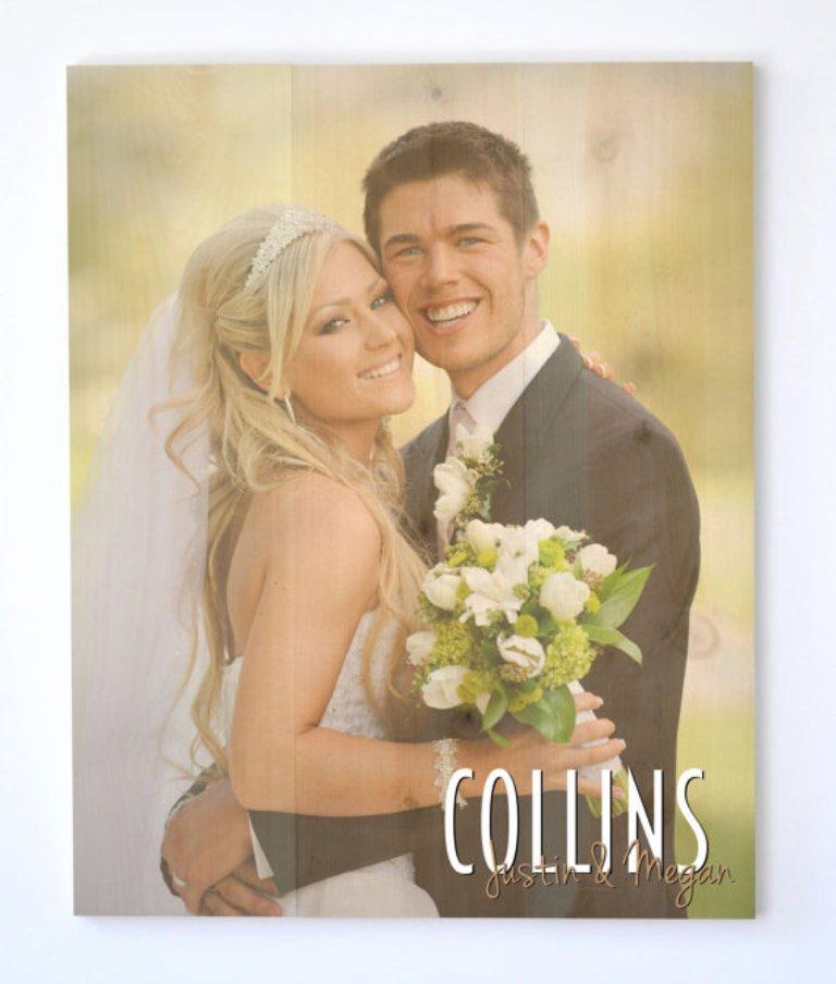 Timberprintz Personalized Family Sign Wood Photo Print 16x20