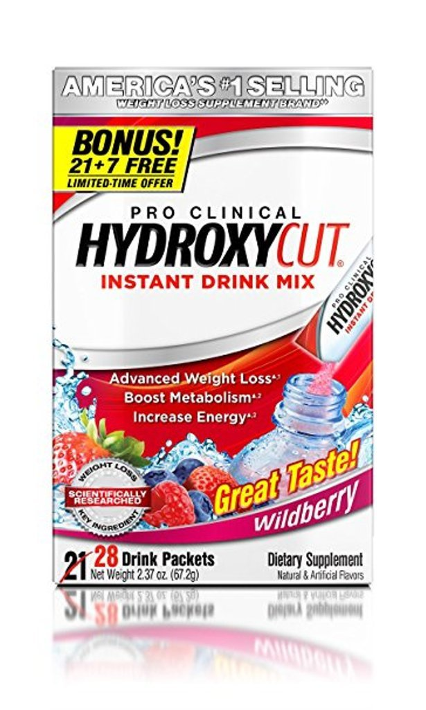 Hydroxycut, Instant Drink mix, Berry 28 Packets
