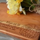 Personalize Flower Engraved Cutting Board 8 x 14