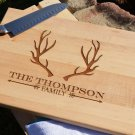 Personalized Cutting Board With Antler And Arrow Design 8 x 14