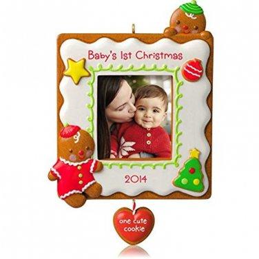 Hallmark 2014 Baby's 1st Christmas One Cute Cookie Photo Holder Ornament