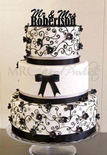 Wedding Cake Topper Personalized Mr. & Mrs (Robertson)