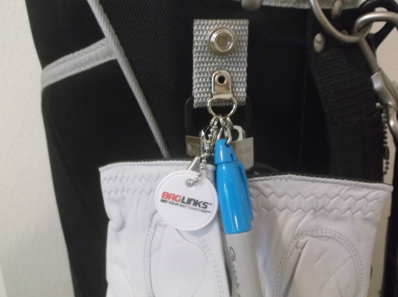 BagLinks: Snap on Golf Bag Accessory