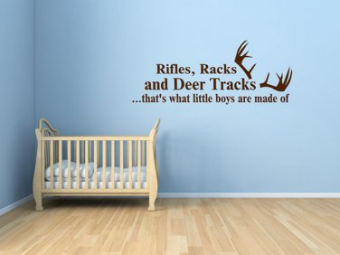 Boy Wall Decal - What Little Boys Are Made Of Vinyl Decal