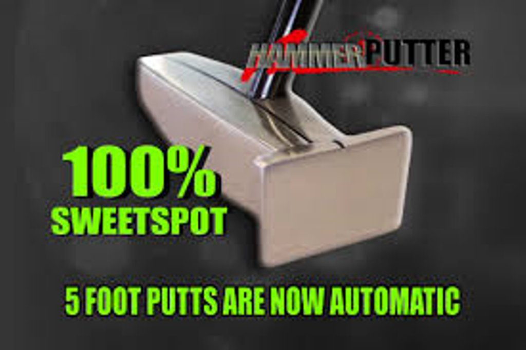New Zero-Axis Hammer Putter/WITH HEAD COVER